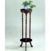 Cherry Finish Triple Twist Plant Stand 3329 (CO)
