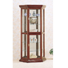 Solid Wood Curio Cabinet in Cherry 3390(CO)