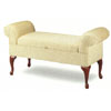 Upholstered Storage Bench With Queen Anne Legs 3440 (CO)