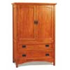 Mission Oak Finish T.V. Armoire 3799 (CO)