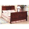 Carved Cherry Finish Queen Size Sleigh Bed 3811Q (CO)