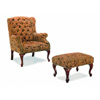 Button Tufted Wing Chair and Ottoman with NailHead 3932B(CO)