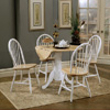 5 Piece Natural White Drop Leaf Dining Set 4241/4129 (CO)