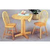 3-Pc Natural Wood Round Table & Chairs 4137/4127 (CO)