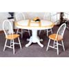 5-Pc Dining Set In Natural/White 4253/4129 (CO)