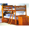 Twin-Twin Spindle Bunk Bed With Bookcase  4521_ (ML)