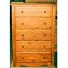 Ponderosa Hone Pine 5-Drawer Chest 4535_ (ML)