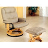 Leatherette Swivel Recliner With Ottoman 4569 (CO)