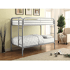 Silver Metal Twin Twin Bunk Bed (400 Lbs Weight Cap)