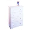4-Drawer Chest 4802WHT-01-KD(LN)