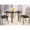 5-Pc Black Dining Set  4840 (WD)