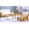Natural Finish All Wood Futon Sofa 4846 (CO)
