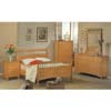 5-Piece Sleigh Bedroom Set In Maple Finish 494_ (CO)