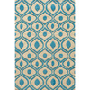 Hand Tufted Modern Waves Teal Polyester Rug 14618629(OFS146)
