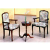 Round Tea w/ French Arm Chairs 5003 (PJ)
