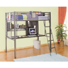 Twin Study Loft Bunk Bed 500-119(PW)