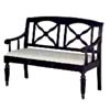 Weathered Black Upholstered Bench 5039 (CO)
