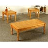 3-Pc Coffee And End Table Set In Pine Finish 5110 (CO)