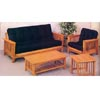 Oak Mission Style Fuson Sofa And Chair 5137 (CO)