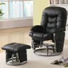Leatherette Deluxe Swivel Glider/Recliner & Ottoman 704_(CO)