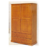 Solid Wood Wardrobe w/Two Drawers 5610_ (PI)