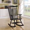 Traditional Wood Rocking Chair Black 600185(COFS)