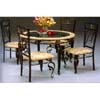 Round Antique Bronze Dinette Set 6201-45/502 (WD)