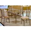 5-Pc Slate/Glass Top Dining Set 6237-45/50 (WD)