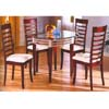 5-Pc Cherry/Metal Dining Set 6268-45/50 (WD)