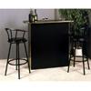 3-Pc Black Bar Unit  & Swivel Stools 2238BK/2398BK (PJ)