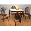 Solid Wood Espresso 5Pc Modern Dining Table Set 6517/6505(AB