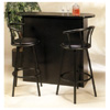 3-Pc Satin Black Bar Unit With Swivel Stools 6529-98 (CO)