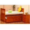 Twin Size Bed w/Trundle & Drawers 6890 (A)