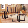 3-Pc Black Finish Occasional Set 700275 (CO)
