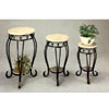 3-Piece Set Marble Top Plant Stand 7113 (CO)