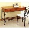 2-Pc Pine And Rust Finish Desk & Chair Set 7168 (CO)