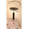 Black And Chrome Plated Bar Chair 7354 (CO)