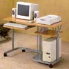 Beech And Silver Computer Desk  7363 (CO)