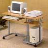 Beech And Silver Computer Desk  7363 (CO)