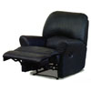 Black Leather MAtch Chaise Recliner 7373BLK (CO)