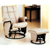 Leatherette Swivel Glider Recliner With Ottoman 7381 (CO)