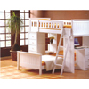 Wood Twin/Twin Loft Bunk Bed 7415(ABC)