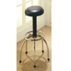 Black Stool Of Adjustable Height 7424 (CO)