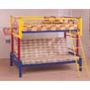Multicolor Twin/Futon Bunk Bed 7498 (CO)