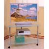 Chrome Finish T.V. Stand 7585 (CO)