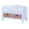 Mesa Verde Bench w/Baskets 84007WHT-01-KD-U (LN)