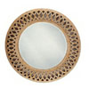 Antique Gold Bevelled Round Mirror 8630 (CO)