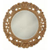 Antique Gold Bevelled Round Mirror 8631 (CO)