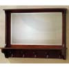 Base Hangers Wall Mirror In Mahogany Finish 900148 (CO)