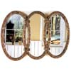 Antique Finish Bronze Triplet Mirror 900178 (CO)